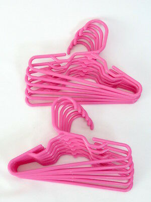(4) Tubular 7'' Pink  Hangers for 18'' dolls Fits American Girl  Clothes