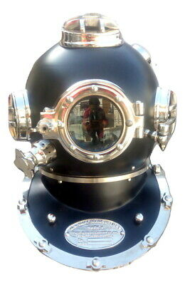 Antique Us Navy Diving Helmet Boston Deep Sea Divers Scuba Marine Divers Gift