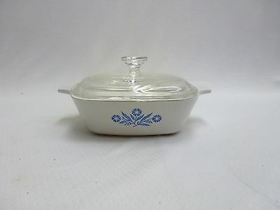 Corning Ware Blue Cornflower Petite Pan P-41-B with Glass Lid