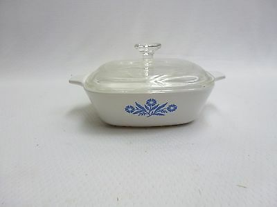 Corning Ware Blue Cornflower Petite Pan P-41-B 12 oz with Glass Lid