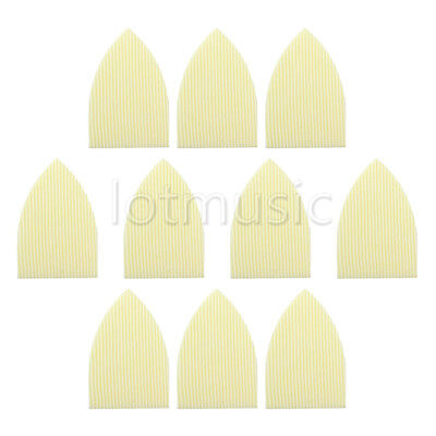 10 Pcs Cream ABS Straight Stripes Triangle Truss Rod Cover For Acoustic Guitar