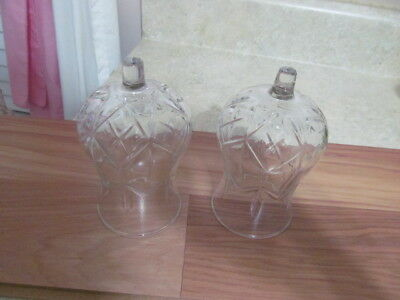 Home Interior / Homco Set Of 2 Clear Hurricane Votive Cups / Candle Holders