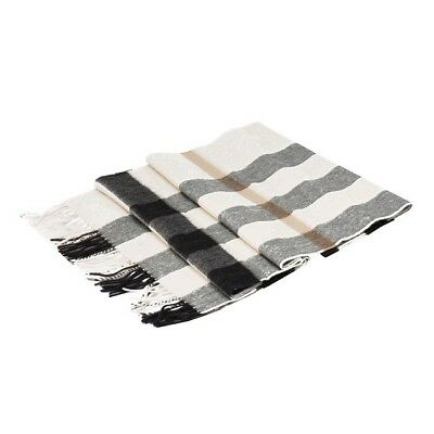 NWT Burberry Half Mega Check 100% Cashmere Scarf, Classic Large Size, Ivory