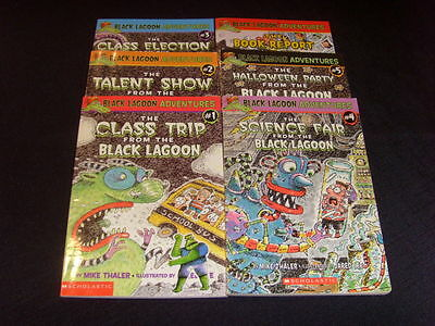Lot Of 7 - Black Lagoon Adventures - Paperback Chapter Books - By Mike Thaler
