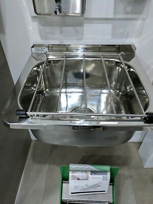 commercial stainless steel cleaner sink / wall mounted / s/s / large / 3 monkeez