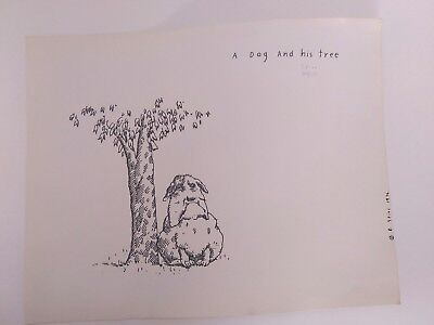 Richard Stine A Dog and His Tree Rare Lithograph Signed Number 22/131, 1976