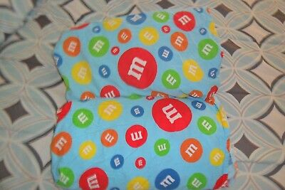 M&M's Candy Twin Sheet Set Flat Fitted Bed Sheets {Fabric} M & M m&m m & m