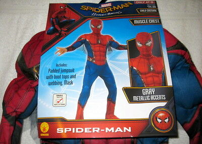Rubies Deluxe Spiderman Muscle Chest Costume Childs Boys 3 - 4 Years Small 4 - 6
