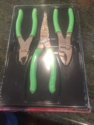 Snap On Pl306acfg, 3 Pc Pliers Set, New