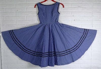 Vintage 1950s Girls Calico Dress Rick Rack Trim Tulle Slip Circle Skirt Size 8 ?