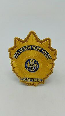 NYPD Police New York City Captain Patch Rare Vintage