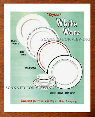 Rare TEPCO Restaurant Ware CATALOG ARTWORK WHITE WARE Pattern + Price List