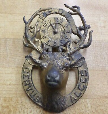 Vtg 1930s Benelovent & Protective Order Elks Antique Wall Ornament Emblem Badge