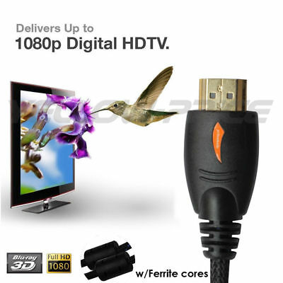 Ultra High Speed Long HDMI 1.4 Cable with Ethernet (50 Feet) - 100% OFC Copper