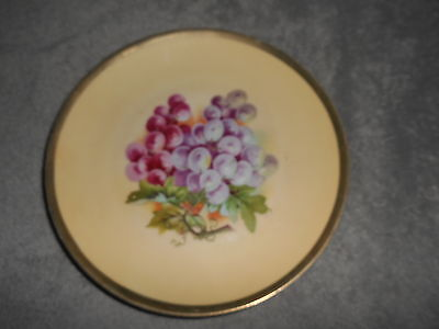 Vintage - Jsv Germany - Plate With Grapes