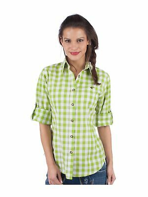 Orbis Traditional Costume Blouse 950000-3052 Roll-Up Sleeves Apple