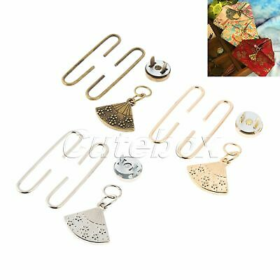 5sets/lot Clasp Coin Purse Frame Kiss Clasp Lock Bags Hardware Tools  Fan-shaped