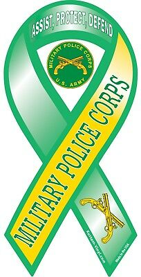 Military Police Corps Support Ribbon Vinyl Decal Sticker car window wall US Army