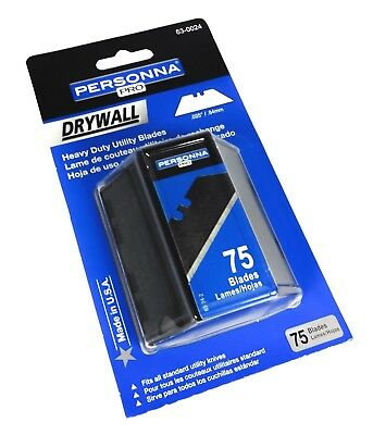 USA MADE 75 Drywall Heavy Duty Utility Knife Blade Replacement Refill Box Cutter
