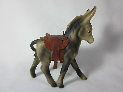 Vintage Victoria Ceramics Japan Donkey with Saddle 4.75""