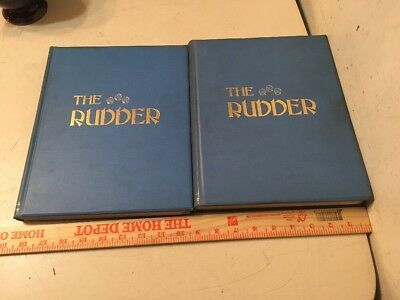 Antique Bound The Rudder Magazine Boat Yacht Sailing Complete In 2 Volumes 1911