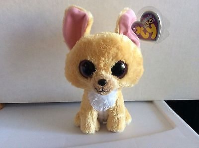 "Ty Beanie Boo NACHO the Chihuahua 6"" Near Mint"