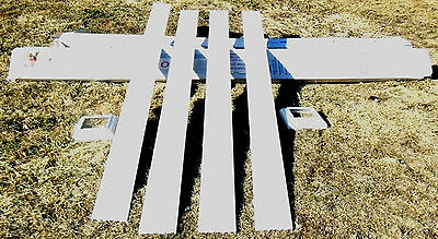 """afco 6"""" square 8' tall white aluminum post/column  with cap and base  new"""
