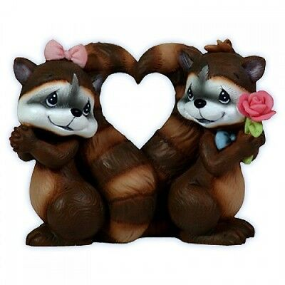 Precious Moments 113203 You Stole My Heart Figurine Raccoons 2011 New In Box