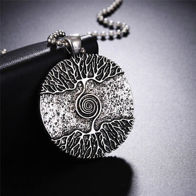 Silver Tree of Life Necklace Pendant Charm Amulet Talisman Nordic Tree Jewelry