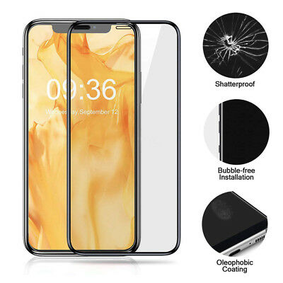 Lot 3D Full Coverage Tempered Glass Screen Protector Film For iPhone X XS MAX XR