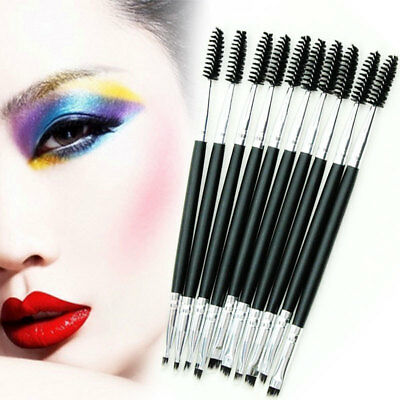Eyebrow Brush Dual-ended Duo Brow Eyeliner Angled Cut Spoolie Brush Makeup Tool