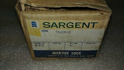 Vintage Sargent Mortise Lock Set #6745Tc-3 Missing Lock And Keys.