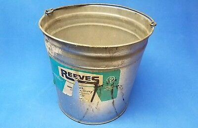 Vintage Reeves Gallon Galvanized Steel Pail Bucket