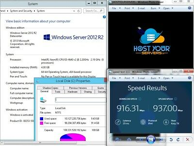 Windows VPS2012 R2 in 100% Uptime Data Center 10Gig Network & DOS Protection!!!