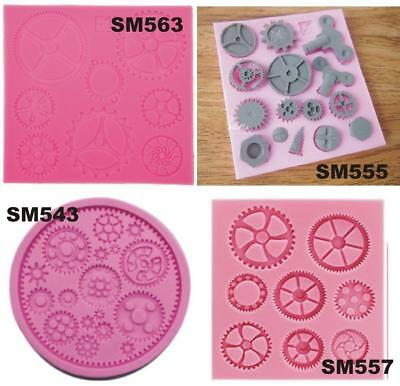 Steam Punk Cogs Gear Screw Silicone Mould Mold Paperclay