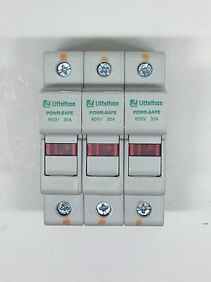 (5) LPSC003ID Littlefuse PowerSafe 3 Pole Dead Front Fuse Holder Blown Indicator