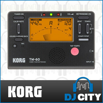 Korg TM60 Combo Digital Guitar Tuner Metronome TM-60BK - Black