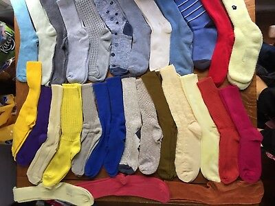 Lot of 29 pairs of comfy socks, some vintage EX condition