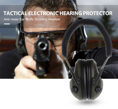 Electronic Hearing Protector Anti-Noise Ear Muffs Shooting Headset Foldable