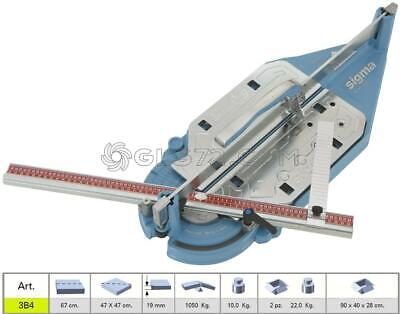 Tile Cutter Machine Manual Pull Handle Sigma 3B4 Cutting Lenght 67 Cm