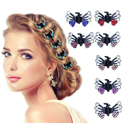 6 Pcs/Lot Hair Clips for Women Fashion Girls Crystal Butterfly Pins Hair Claws