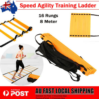 16-Rung 8M Agility Ladder Speed Soccer Football Fitness Feet Training Equipment