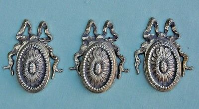 3 Vintage Reclaimed Decorative Brass Door Escutcheon, Key Hole Lock Covers