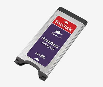 FlashBack Adapter Card Reader SanDisk for SD SDHC Memory Express Card SDAD-111