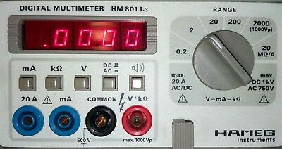 hameg HM 8011-3 digital multimeter Einschub