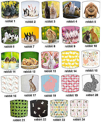 Rabbit Designs Lampshades Ideal To Match Rabbits Duvet Covers & Rabbits Curtains