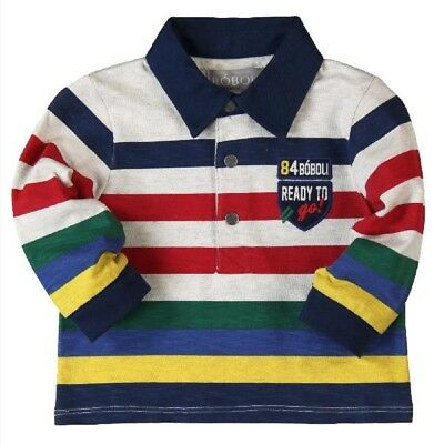 Bóboli Long Sleeve Boys Polo Shirt Striped sz. 74 - 92