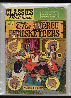 Classics Illustrated #1 Poor  Hrn114  (The Three Musketeers) Alexandre Dumas