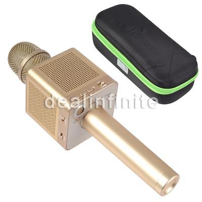 MicGeek Wireless Bluetooth Q10S Karaoke Player Gold Metal Color For iphone7/plu#