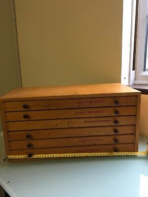 Vintage Printers Chest Type Cabinet